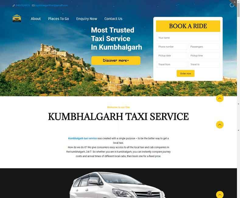 Taxi Booking Website Developer Udaipur, Rajasthan, India