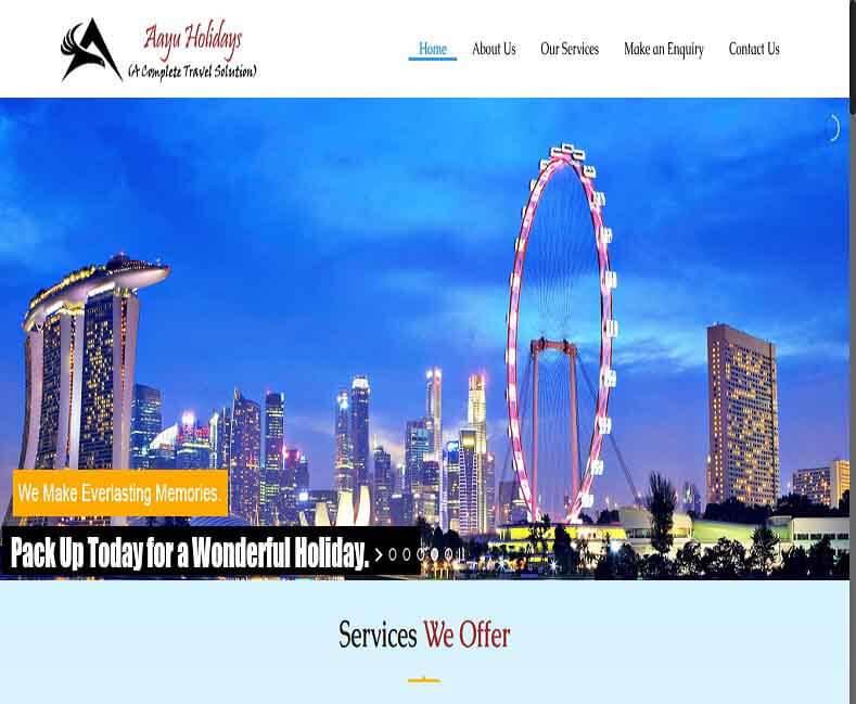 Travel Agency Website Developer Udaipur, Rajasthan, India